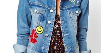 veste en jean avec ecusson